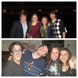 This isn't from Finals or Senior Week exactly. The top picture was taken at the very beginning of freshman year and the second picture was taken at the end of this year. It's of my family on campus: Gab is Ma, Jon is Dad, Gina is Sister and I am Son. We call ourselves the family.