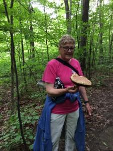 Jackie and a Boletus Mushroom