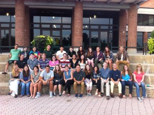 Class of 2017 London FYE during their orientation on the Skidmore campus prior to departing for London