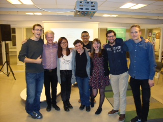 Pitch Battle winners incl. faculty and panelist