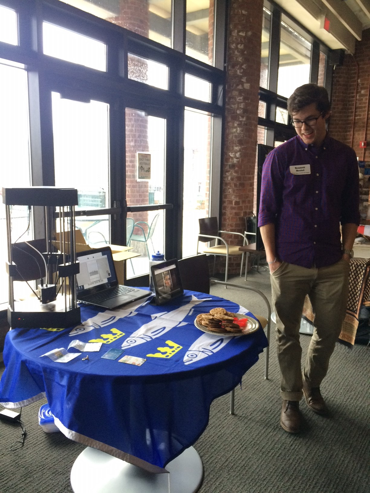 Bennett Beutel, '16, with his presentation on interning in the Netherlands!