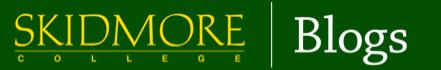 Skidmore Public Blogs