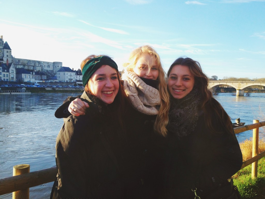 soaking up the sunshine in Blois!