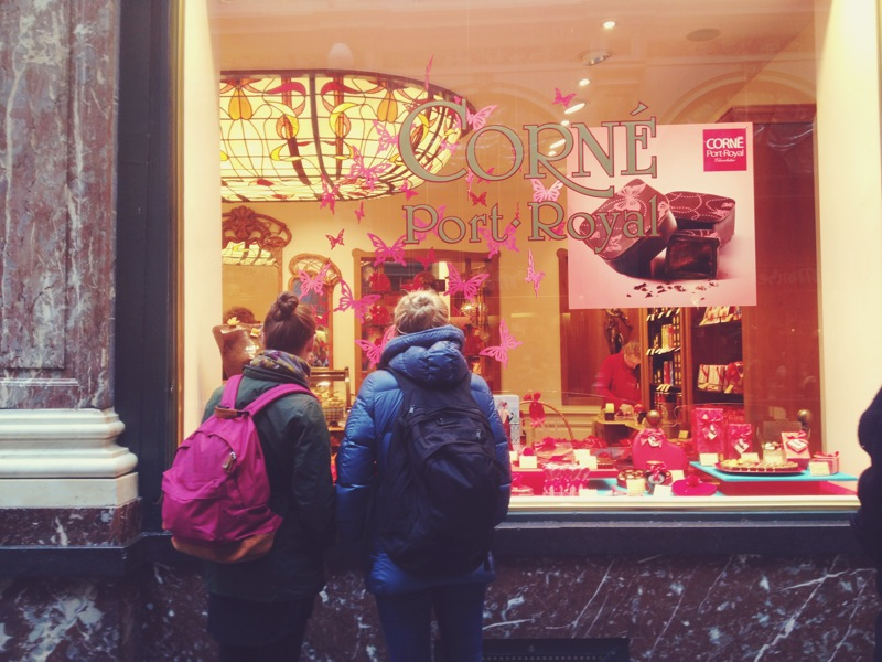 eyeing some sweet treats in Bruxelles