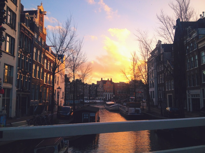 favorite shot from the trip, love a good sunset/canal combo