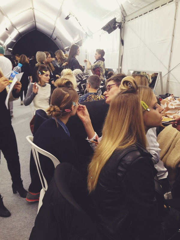 hair & makeup team in action!