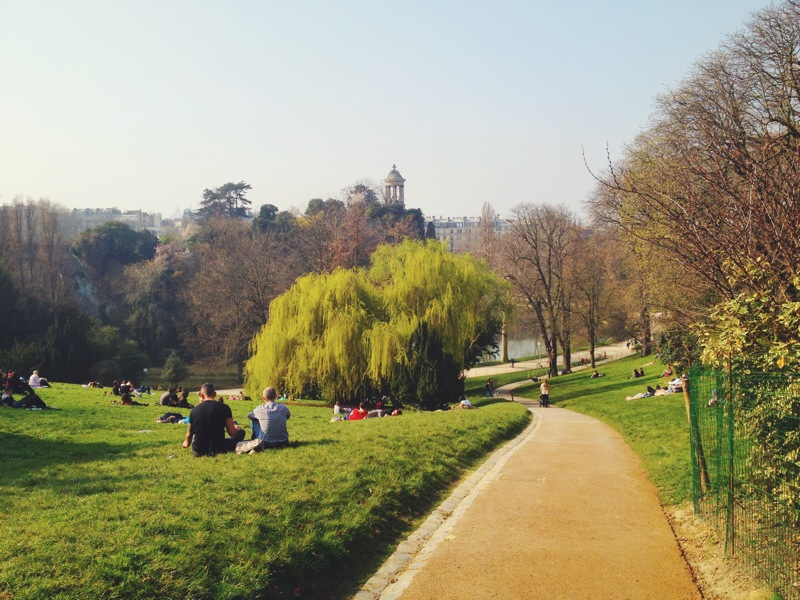 "The ""buttes"" (hill) of Parc des Buttes Chaumont"