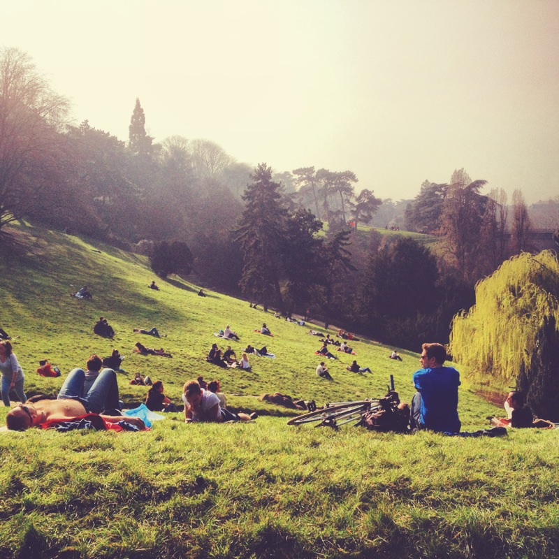 The lovely Parc des Buttes Chaumont