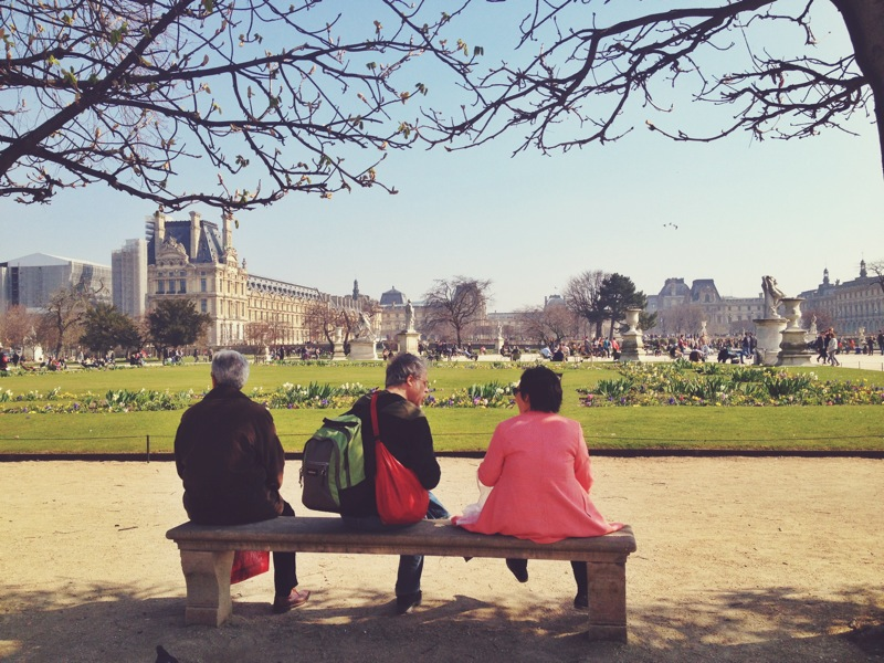 People watching in the Tuileries