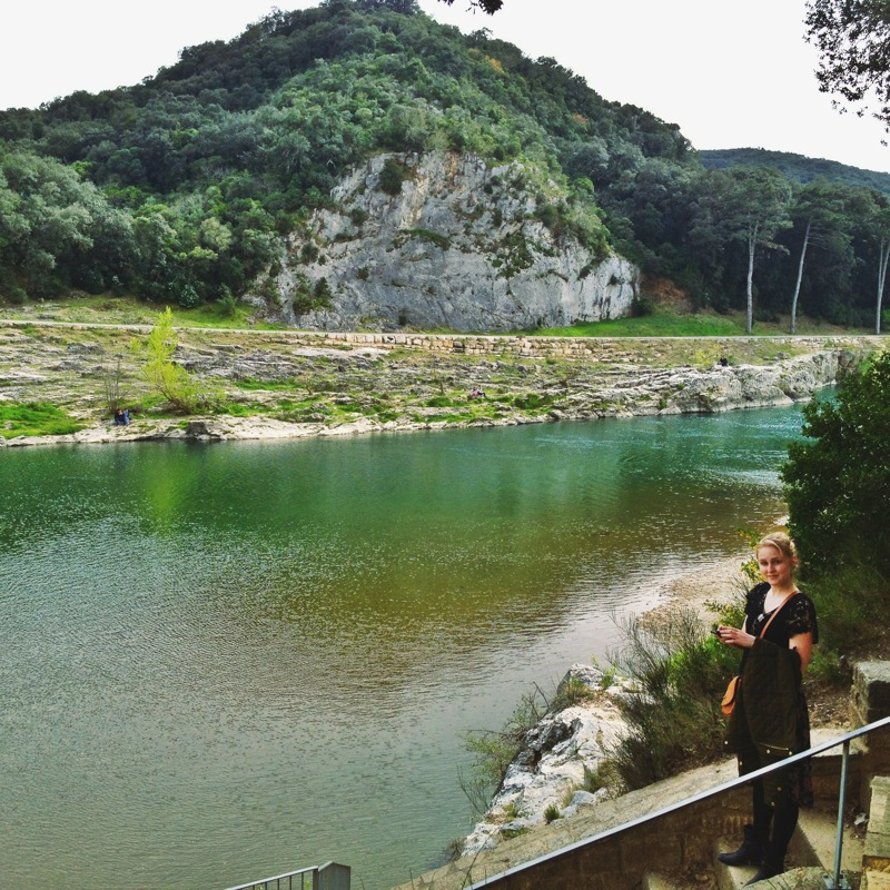 So excited to see such beautiful water--a nice break from the River Seine!