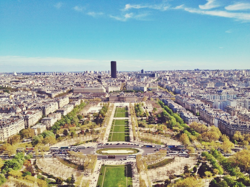 View of the Luxembourg Gardens, ft. the disruptively ugly Tour Montparnasse