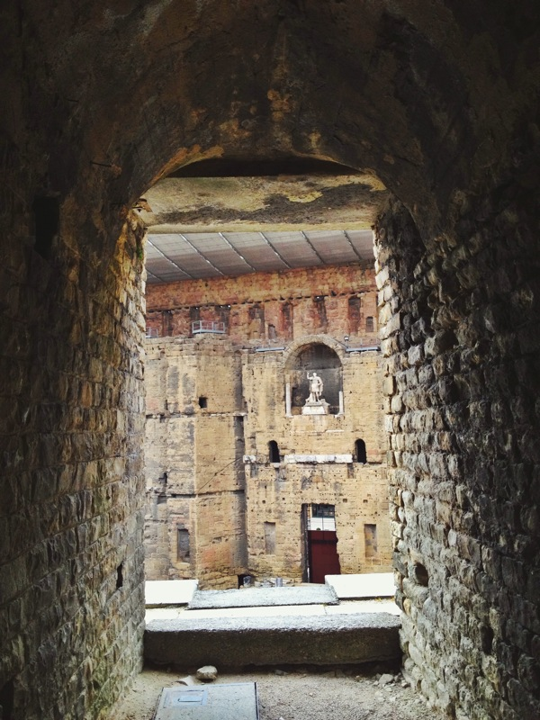 Passageways leading out to the theatre