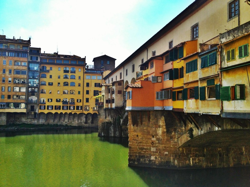 The colorful (and crazy-crowded) Ponte Vecchio