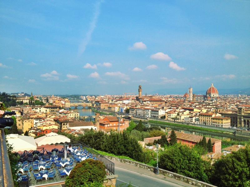 View from the top of Piazzale Michelangelo (a must-see)!