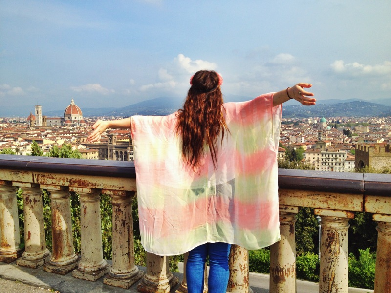 Soaking in the view over Firenze