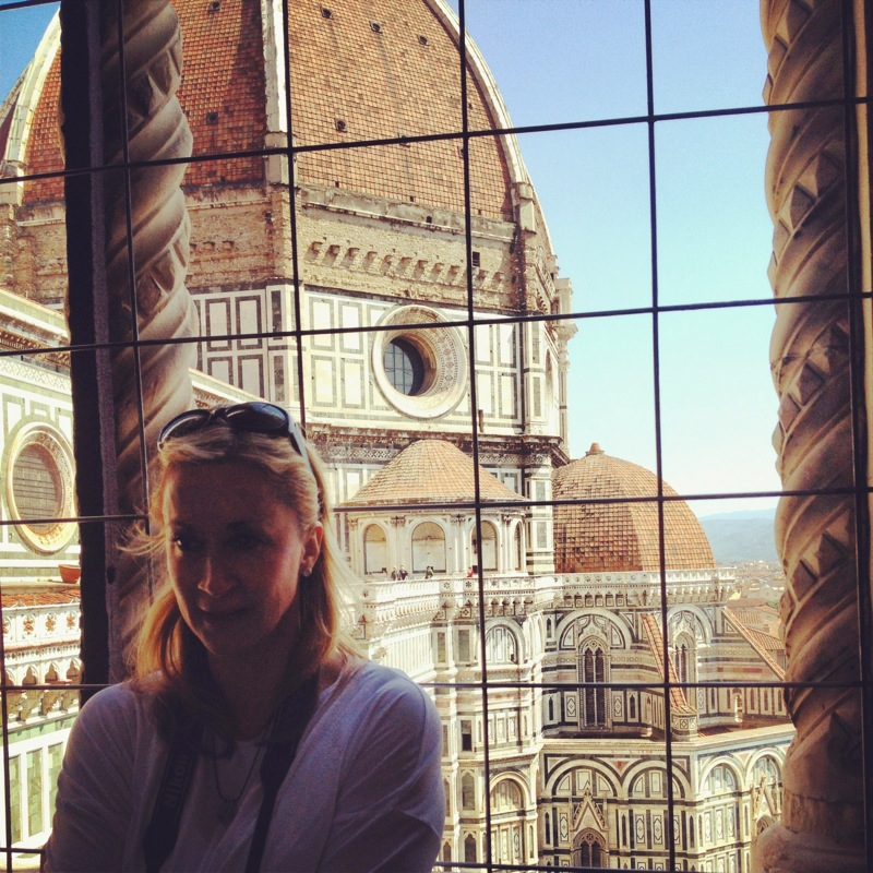 Surrounded by beauty--Queen Lori and Il Duomo